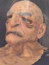 Halloween Old Man Rubber Mask Prop Mario Chiodo Studios Full head 2006