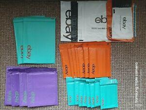20x Ebay Brand Plastic Padded Envelopes S, S-M, M & L + 20 Plastic Mailers Set