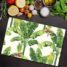 Glass Chopping Board Tropical Banana Palms Vector Jungle Hawaiian 80x52