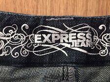 EXPRESS blue denim casual shorts tag size 0 actual W31 L4.5 rise 8.5