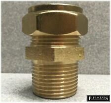 """22mm x 3/4"""" Brass Compression Male to Iron Threaded Adaptor with TAPERED THREAD"""