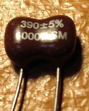 50 pcs 1000V 390pF Dipped Silver Mica Capacitors 390 pF 1KV 5% NEW