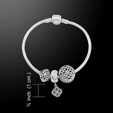 Celtic Knot .925 Sterling Silver Bead Bracelet by Peter Stone