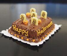 1:12 Dollhouse Miniatures Night Festival Halloween Chocolate Sheet Cake Fancy