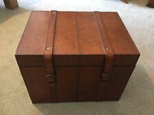 Buffalo Leather Storage trunk