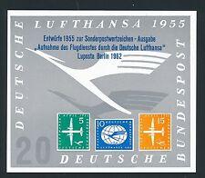 75791) Autocollant Label Sticker Lufthansa projets 1955, LUPOSTA Berlin 1962 V .2
