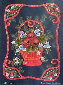 original Petrykivka painting A4 49ХAn art by samovar acrylic