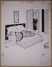Beau Dessin Ancien Illustration Christian Cruveiller dit UBER c.1960 #3