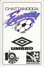 RARE 1996 CHATTANOOGA EXPRESS USISL HOME POCKET SCHEDULE - MINOR LEAGUE SOCCER