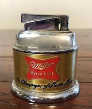 """Vintage Rare Miller High Life Lighter """"Champange of Bottle Beer�"""