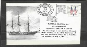 1974 National Maritime Day The Savannah 155 Years Event Cover, Washington D.C.