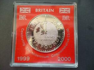 1999 £5 COIN BRILLIANT UNCIRCULATED CASED (CROWN) CELEBRATING THE MILLENIUM
