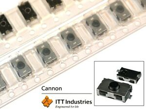 Subminiature Tact Switch for SMT KSR251G SILVER ITT Industries [QTY=10pcs]