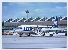 LOT Polish Airlines official postcard IL-18