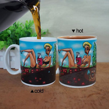 Novelty Color Changing Mug Lady Coffee Cup Heat Sensitive Porcelain Tea Fun Gift
