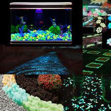 100Pcs/Set Luminous Stones Garden Road Decor Glow In Dark Ornaments Pebble Stone