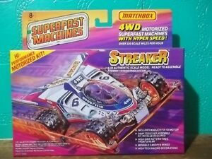 MATCHBOX SUPERFAST MACHINES STREAKER 1/32 4WD MODEL KIT MOTORIZED MIB NEW 1989