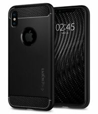 iPhone X, XS Case, Spigen Rugged Armor Shockproof Slim Cover - Matte Black