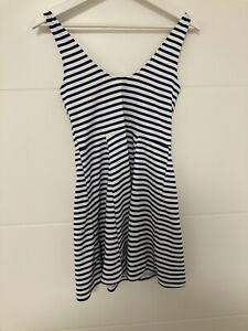 Sommerkleid H&M Blau Weiss Gestreift Größe 38