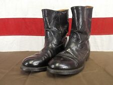 Hypalon Sole Boots Leather Slip On Above Ankle Men's Size 7.5 EE Black