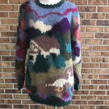 Icelandic Design Sweater ©1994 Woman's Size L Mohair Wool Ringneck Pheasant