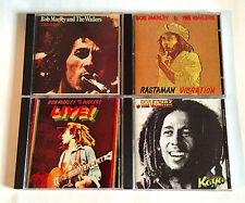 BOB MARLEY lot of 4 JAPAN EARLY CD Catch A Fire Rastaman Vibration Live Kaya