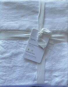 Pottery Barn Belgian Flax Linen Queen Sheet Set In White
