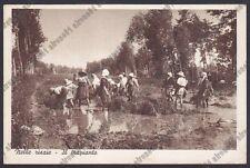 MONDINE 305 MONDARISO RISO RISAIA LAVORI AGRICOLI MESTIERI Cartolina viagg. 1940