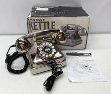 NEW Pottery Barn Crosley Kettle Classic Desk Phone~Brushed Chrome~*Read*