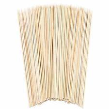 120 PACK di legno di bambù SPIEDINI PER BARBECUE/'S frutta FONDUTA UK venditore GRATIS