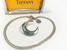 Tiffany & Co. Rare 1979 Angela Cummings Sterling Silver Feather Pendant Necklace