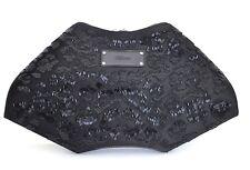 ALEXANDER McQUEEN EMBROIDERED BLACK DE MANTA CLUTCH BAG BNWT PERFECT GIFT