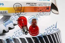 PHILIPS 12V 21W  PR21W RED TAILLIGHT / STOPLIGHT  BULB PAIR   SAAB / FORD etc.
