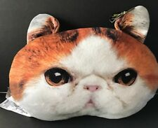 Kitty Cat Pillow Exotic Shorthair Soft Novelty Throw Lady Plush Expressions