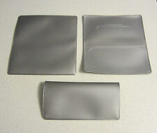 1 NEW METALLIC SILVER  VINYL CHECKBOOK COVER WITH DUPLICATE FLAP CHECK BOOK
