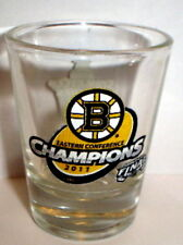 BOSTON BRUINS 2011 STANLEY CUP FINALS SHOT GLASS #1  EASTERN CONFERENCE CHAMPS