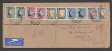 South Africa Sc 74-79 FDC. 1937 Coronation, Registered CAPE TOWN to CANADA