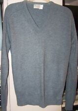 MENS - V NECK SWEATER - GRAY by MENS STORE - SIZE SMALL