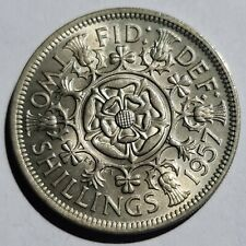 More details for * key date * 1957 queen elizabeth ii  florin / two shillings coin - unc