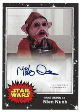 2017 Topps Star Wars May the 4th On Demand Autograph MIKE QUINN as Nien Nunb