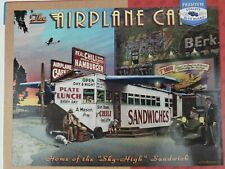 Airplane Cafe Masterpieces Cruisin 66 Hamburgers Cafe 1000 Piece Puzzle Complete