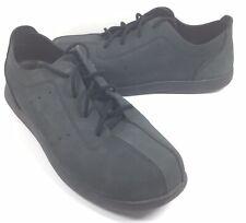 Crocs Venture Black Suede Leather Casual Oxford Lace-up Shoes Men's US 11