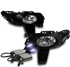 2004 2005 2006 MAZDA 3 4DR LOWER BUMPER CHROME FOG LIGHTS LAMP+HARNESS W/10K HID