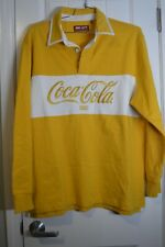 KITH Coca-Cola Classic Rugby Yellow Size XL Limited 100% Authentic Rare!