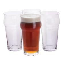 "Dartington Crystal - "" Boys Night In "" 4 Pack Pint Glasses Gift Set in Box"