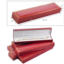 LOT OF 3 HIGH QUALITY WATCH BOX FAUX LEATHER RED BRACELET BOX JEWELRY GIFT BOX
