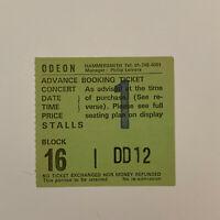 Eurythmics - Hammersmith Odeon Nov 19 1983 Concert Ticket Stub
