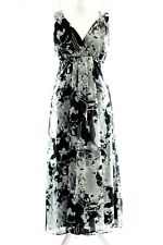Ladies M&Co Black & Grey Evening Special Occasion Maxi Dress Size UK 18