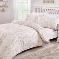 Leaf Natural Bedding - Reversible Duvet Cover and Pillowcase Set