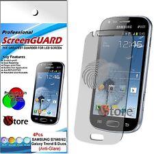4 Pellicola Opaca Per SAMSUNG Galaxy S Duos S7562 Antiriflesso Antimpronta